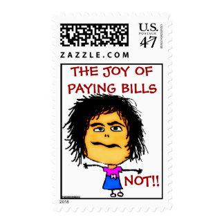 La alegría de cuentas que pagan timbre postal