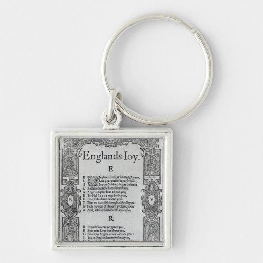 La alegría de Inglaterra de Richard Vennar, c.1602 Llavero Personalizado