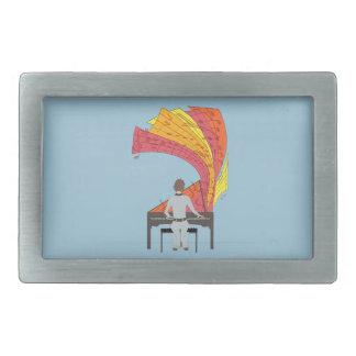 La alegría de jugar el piano hebillas cinturon rectangulares
