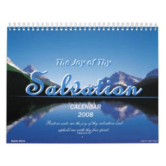 """""""La alegría de thy salvación """" Calendarios De Pared"""