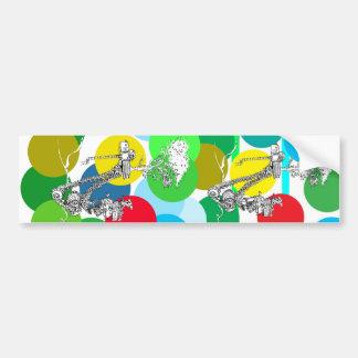 La alegría del color - arte de Patrick Janicke Pegatina De Parachoque