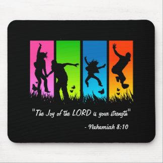 La alegría del señor es su cojín del 8:10 de Nehem Alfombrilla De Ratones