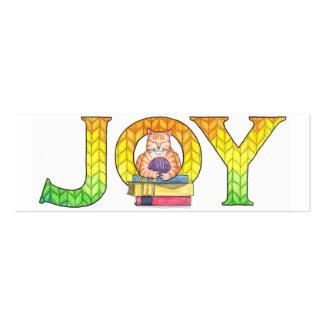 La alegría marca una dirección de la Internet Tarjetas De Visita Mini
