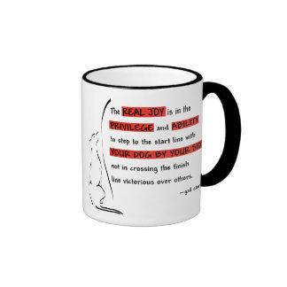 La alegría real de la agilidad taza de café