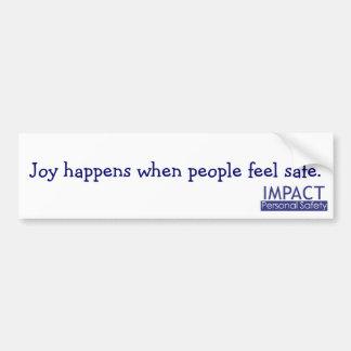 La alegría sucede pegatina para el parachoques etiqueta de parachoque
