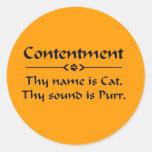 La alegría thy nombre es gato pegatinas redondas
