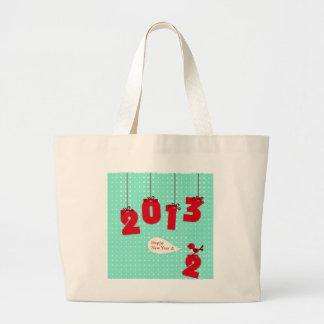"""La alegría única 2012 """"del Año Nuevo"""" del Año Nuev Bolsa Tela Grande"""