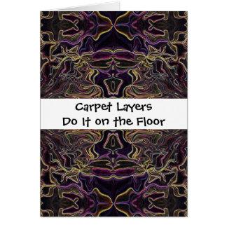 la alfombra acoda humor tarjeta de felicitación