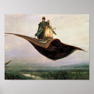 La alfombra de vuelo de Victor Vasnetsov (1880) Poster