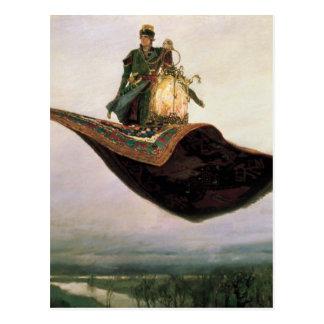 La alfombra de vuelo de Victor Vasnetsov (1880) Postales