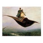 La alfombra de vuelo de Victor Vasnetsov (1880) Postal