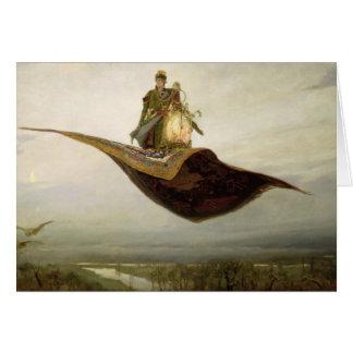La alfombra mágica, 1880 tarjeta de felicitación