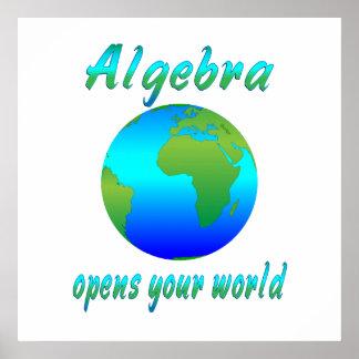 La álgebra abre los mundos - comenzando en $11,80 impresiones