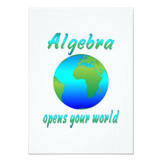 """La álgebra abre los mundos invitación 5"""" x 7"""""""