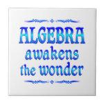 La álgebra despierta azulejos cerámicos