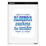 La álgebra despierta pegatina skin para iPad 3