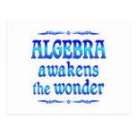 La álgebra despierta postales