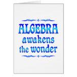 La álgebra despierta tarjetas