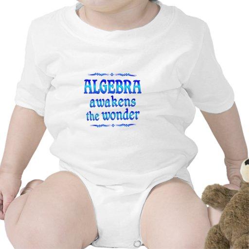 La álgebra despierta traje de bebé
