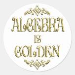 La ÁLGEBRA es de oro Etiquetas Redondas