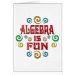 La álgebra es DIVERSIÓN Felicitación