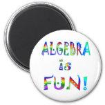 La álgebra es diversión iman de frigorífico