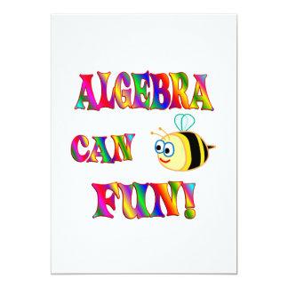 """La álgebra es diversión invitación 5"""" x 7"""""""