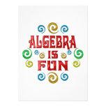La álgebra es DIVERSIÓN Invitacion Personalizada