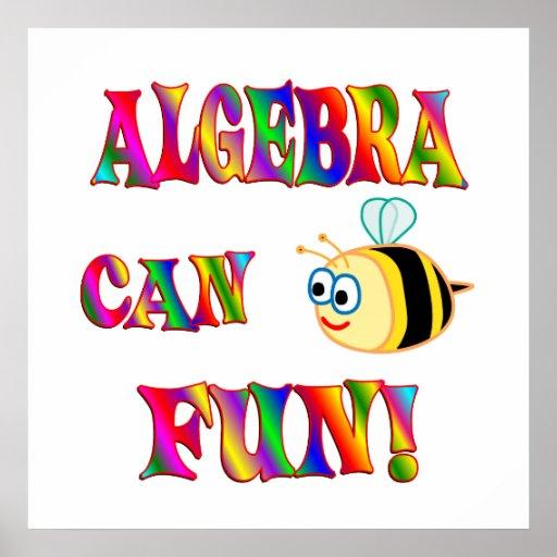 La álgebra es diversión poster