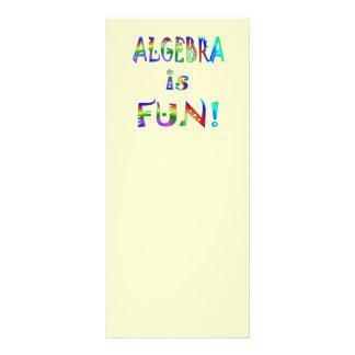 La álgebra es diversión tarjetas publicitarias a todo color