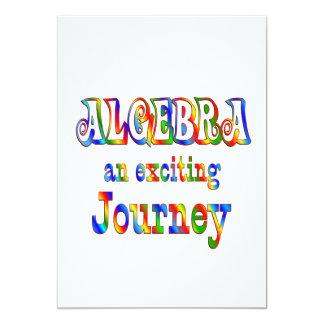 """La ÁLGEBRA es emocionante Invitación 5"""" X 7"""""""