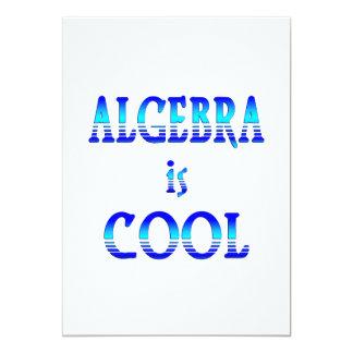 """La álgebra es fresca invitación 5"""" x 7"""""""