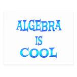 La álgebra es fresca postal