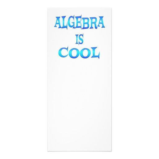 La álgebra es fresca tarjetas publicitarias