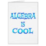 La álgebra es fresca tarjeton
