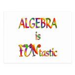 La álgebra es Funtastic Tarjetas Postales