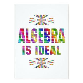 """La álgebra es ideal invitación 5"""" x 7"""""""
