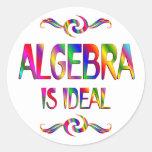 La álgebra es ideal pegatina redonda