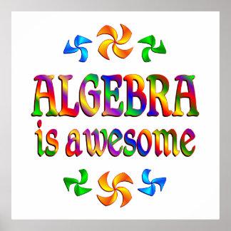 La álgebra es impresionante posters