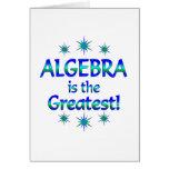 La álgebra es la más grande tarjeton