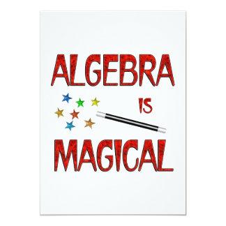 """La álgebra es mágica invitación 5"""" x 7"""""""