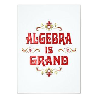 """La álgebra es magnífica invitación 5"""" x 7"""""""