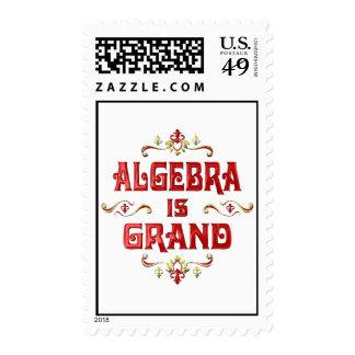 La álgebra es magnífica sello