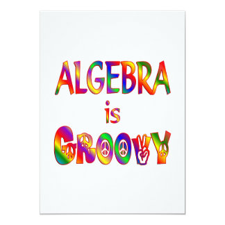 """La álgebra es maravillosa invitación 5"""" x 7"""""""