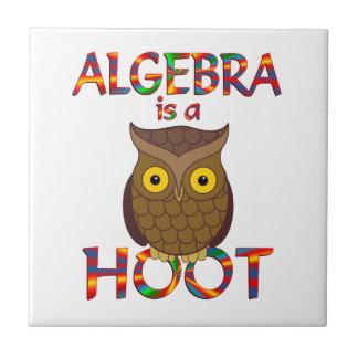 La álgebra es un pitido teja