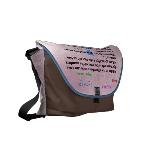 La álgebra firma la bolsa de mensajero bolsa de mensajeria