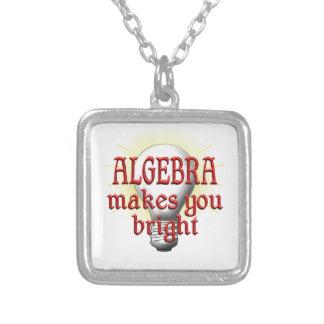 La álgebra le hace brillante colgante cuadrado