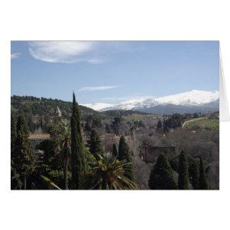 La Alhambra view of Sierras in Spain Card