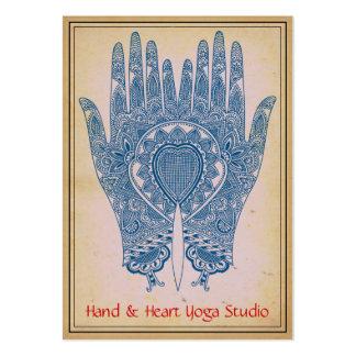 La alheña azul da la tarjeta de visita del estudio