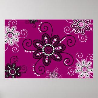 La alheña inspiró las flores espirales (el fondo m póster